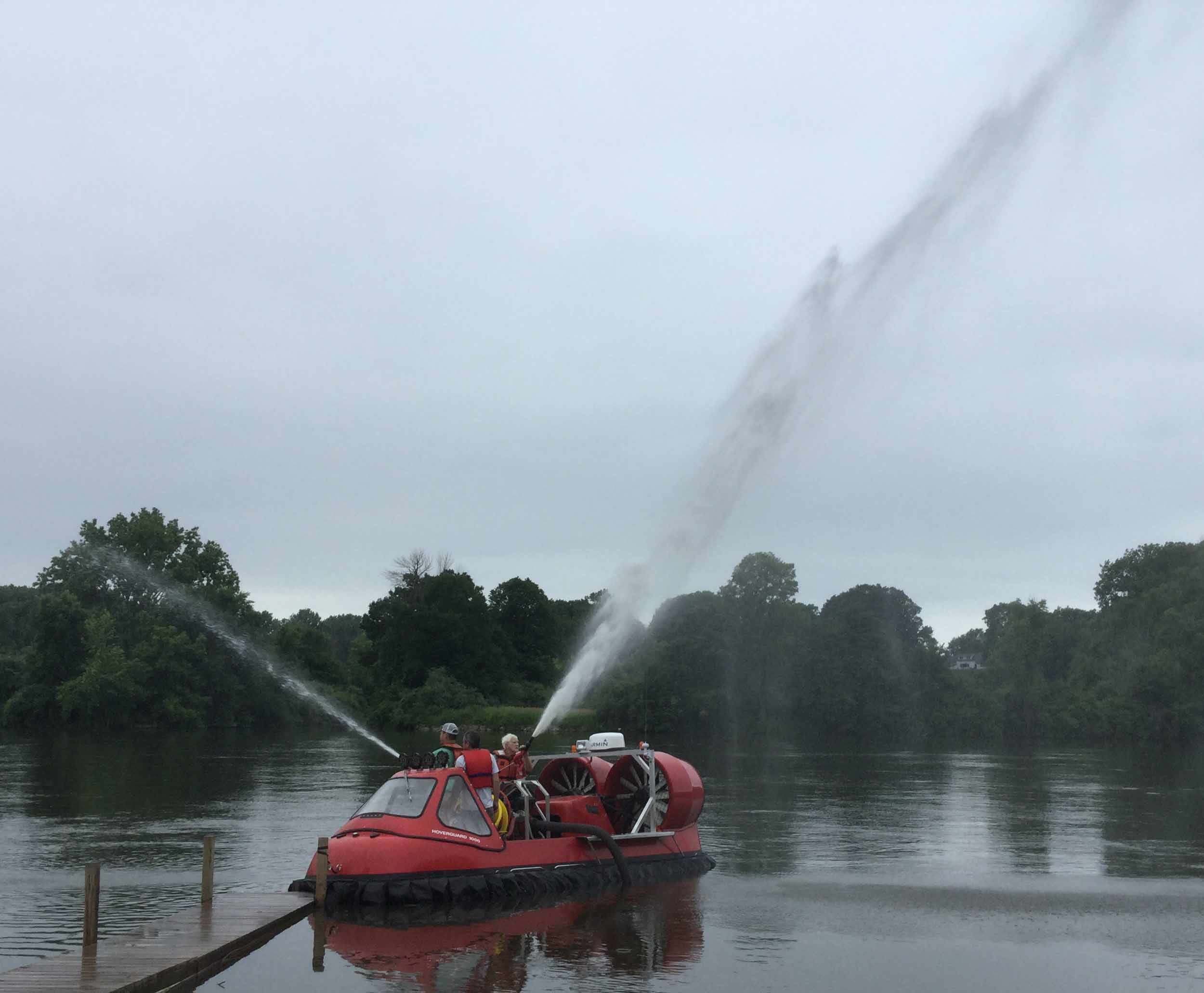 Hovercraft Fire Pump Monitor and Hose Testing